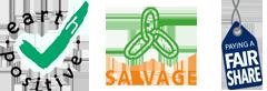 Logo EarthPositive Salvage FairShare